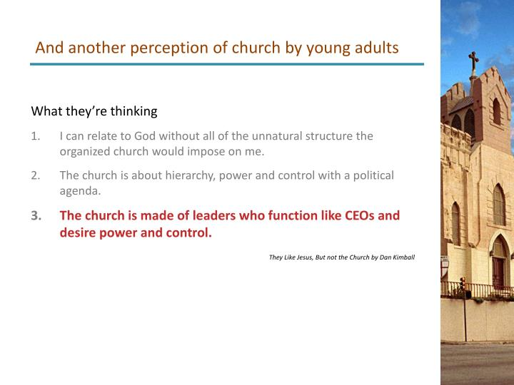 And another perception of church by young adults