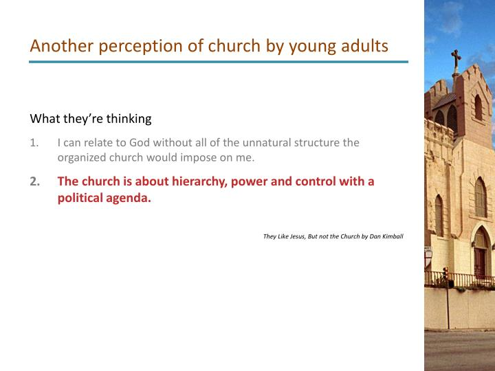 Another perception of church