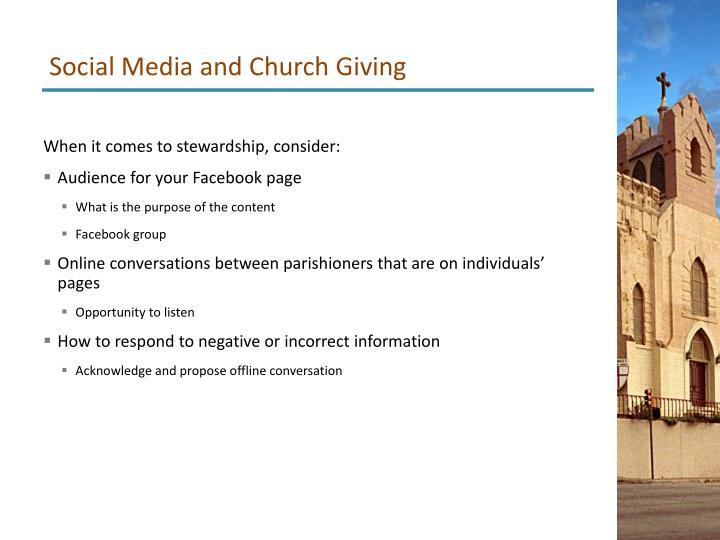 Social Media and Church Giving