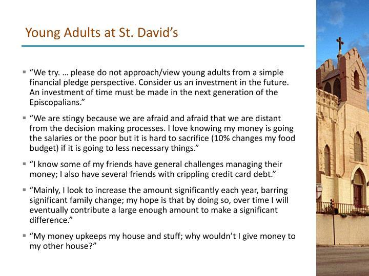Young Adults at St. David's