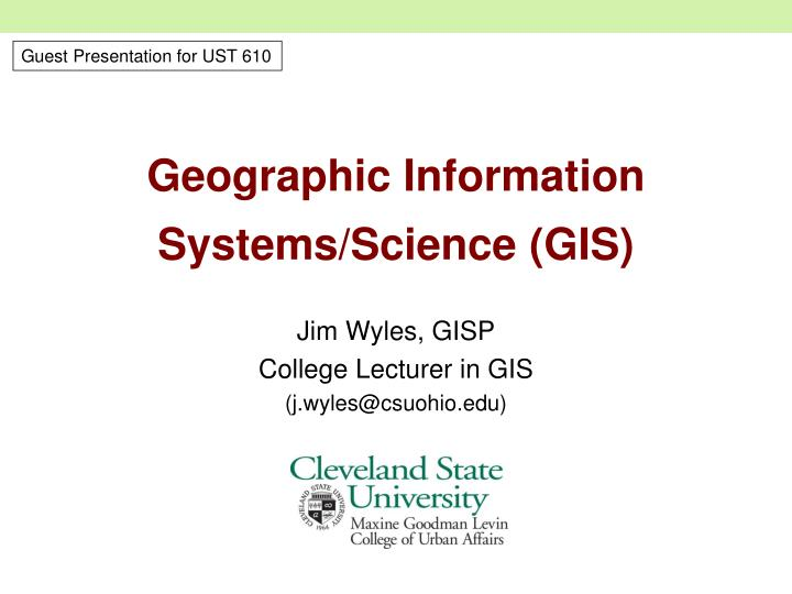geographic information systems science gis n.