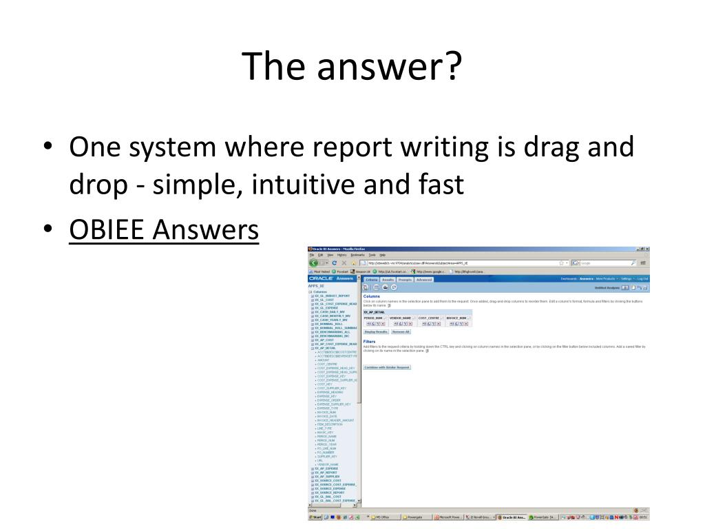 PPT - Business Intelligence, OBIEE+, Leeds Teaching