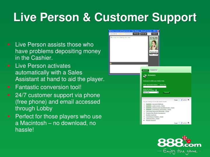 Live Person & Customer Support