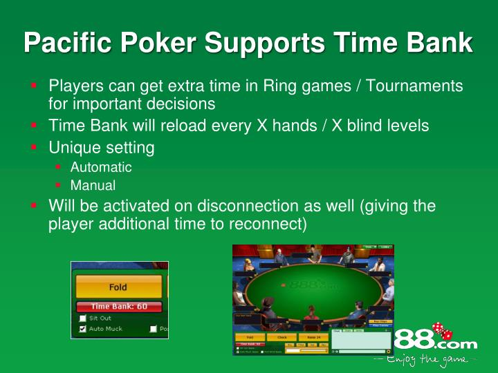 Pacific Poker Supports Time