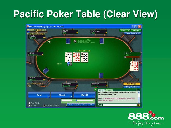 Pacific Poker Table (Clear View)