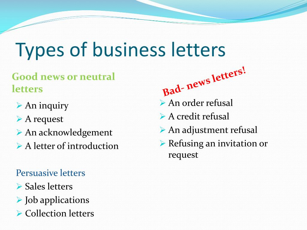 PPT - Writing Business Letters PowerPoint Presentation - ID