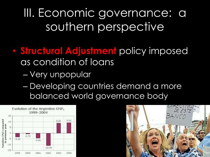 Iii economic governance a southern perspective