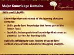 major knowledge domains