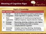 meaning of cognitive rigor1
