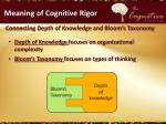 meaning of cognitive rigor4