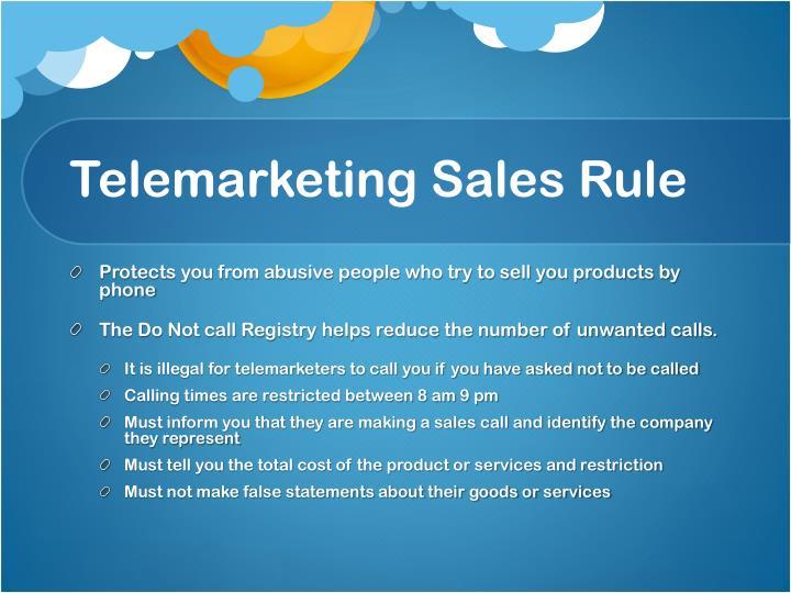 Telemarketing Sales Rule