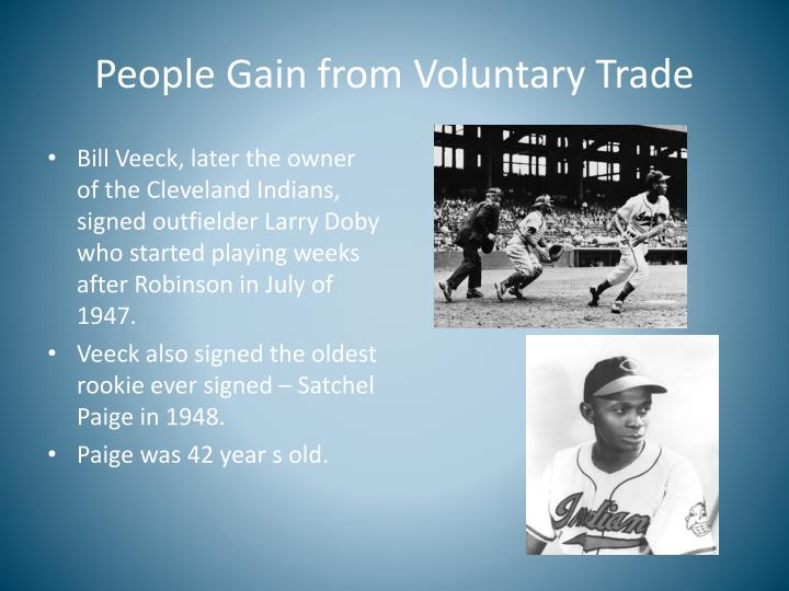 People Gain from Voluntary Trade