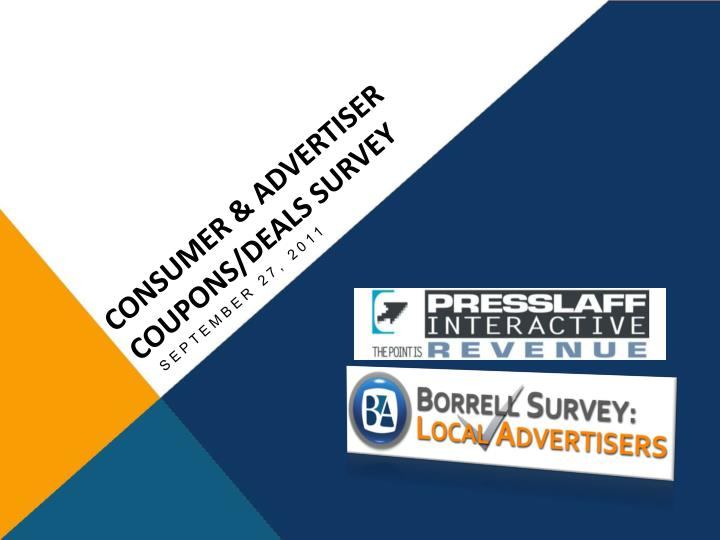consumer advertiser coupons deals survey n.