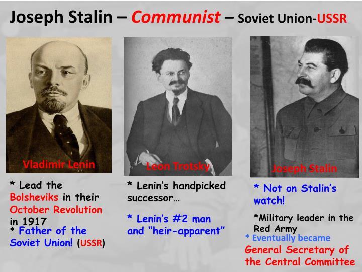 joseph stalin and communist ussr