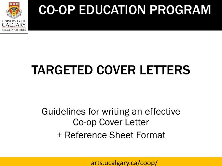 PPT - TARGETED COVER LETTERS PowerPoint Presentation, free ...