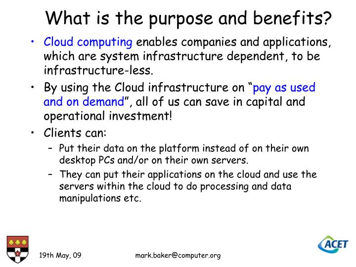 What is the purpose and benefits?