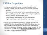 1 3 value proposition
