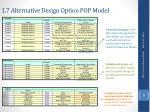 1 7 alternative design option pop model