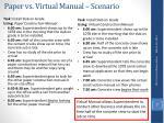 paper vs virtual manual scenario