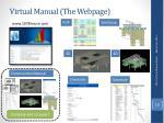 virtual manual the webpage