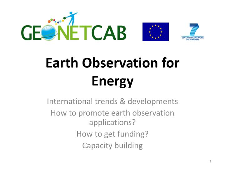earth observation for energy n.