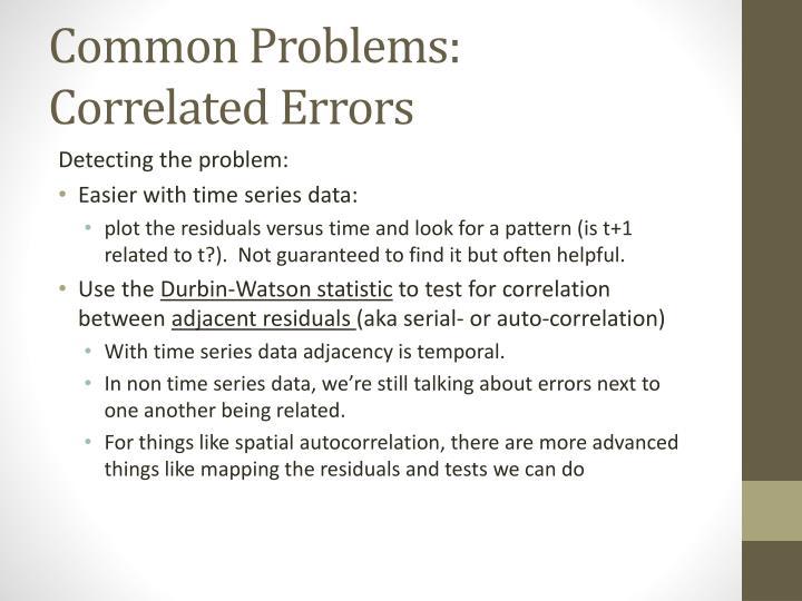Common Problems: