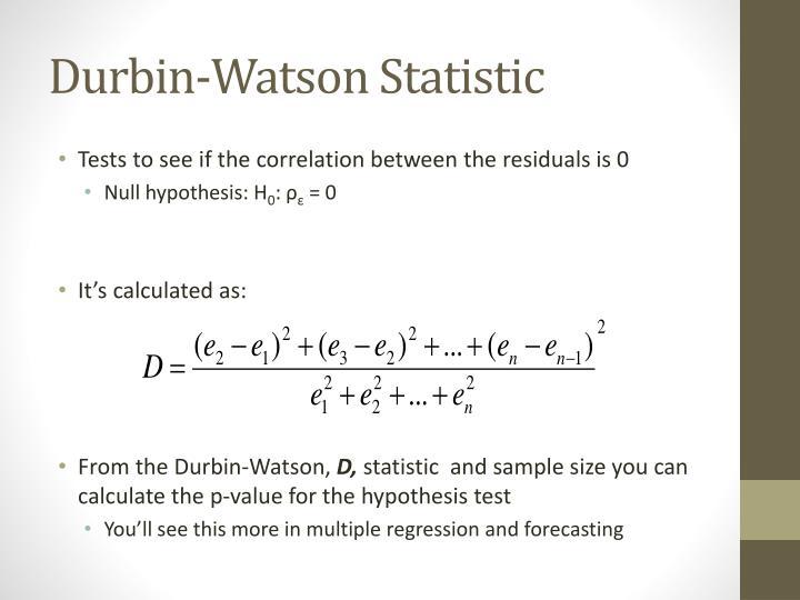 Durbin-Watson