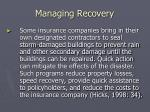 managing recovery1