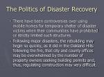 the politics of disaster recovery4