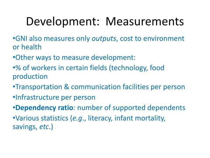 Development measurements2