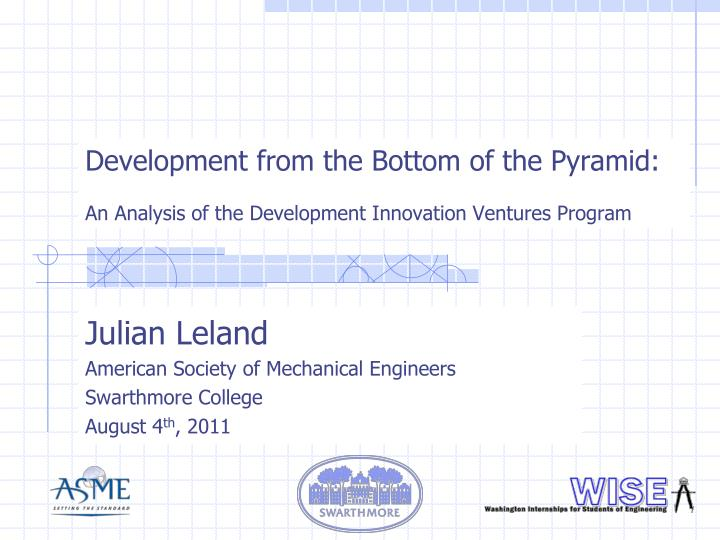 Development from the Bottom of the Pyramid: