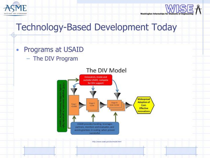 Technology-Based Development Today