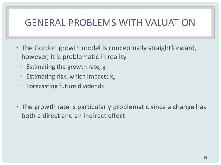 General problems with valuation