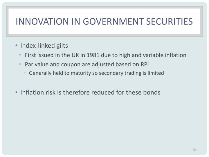 Innovation in government securities