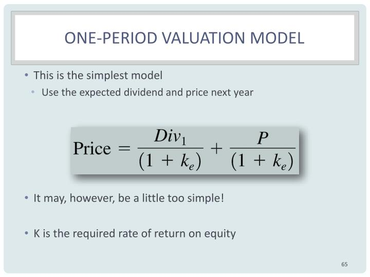One-period valuation model