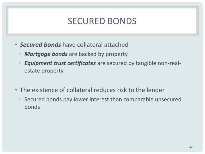Secured bonds