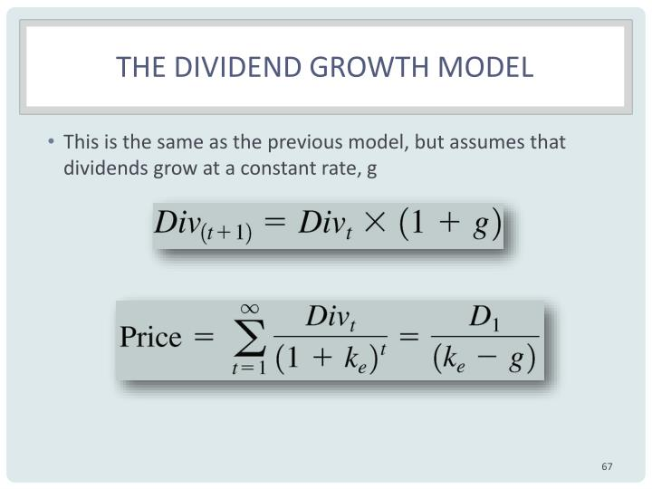 The dividend growth model