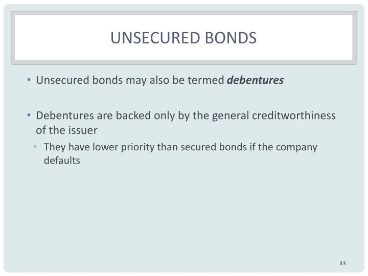Unsecured bonds