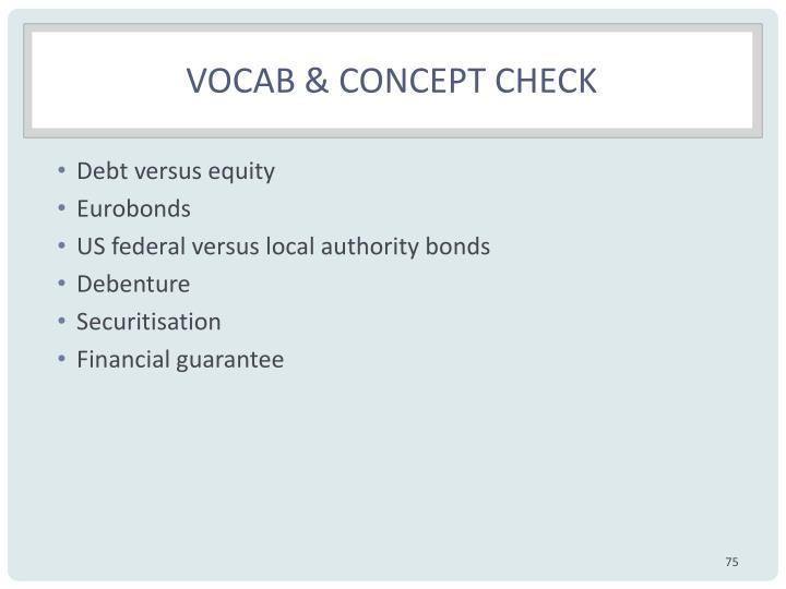VOCAB & concept CHECK