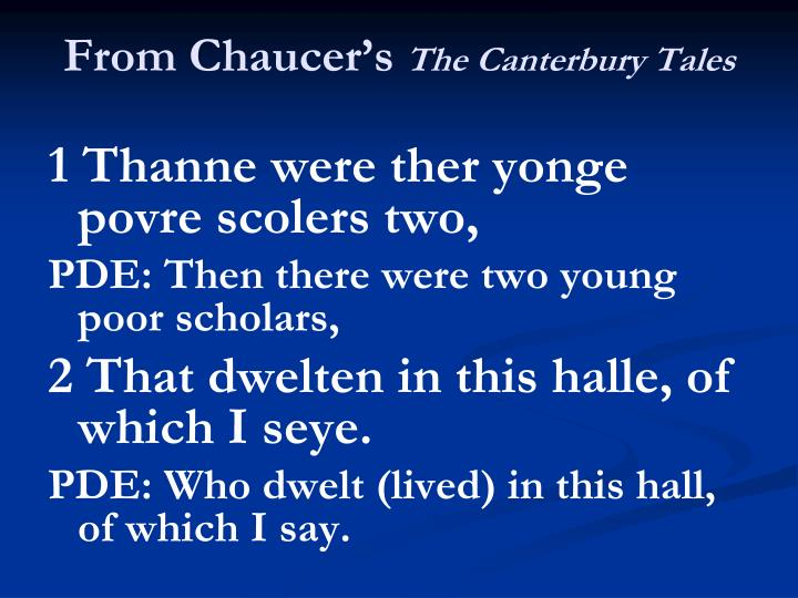 From Chaucer's