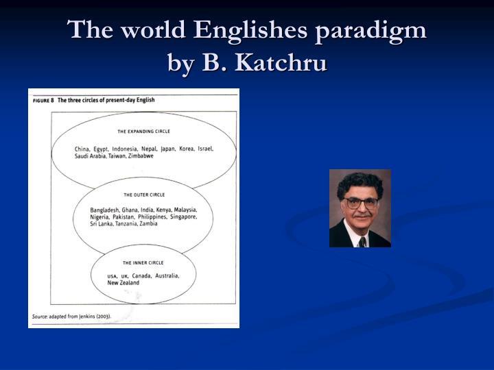 The world Englishes paradigm