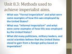 unit 8 3 methods used to achieve imperialist aims