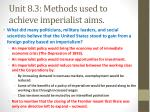 unit 8 3 methods used to achieve imperialist aims3