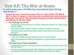 unit 8 8 the war at home1