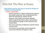 unit 8 8 the war at home2