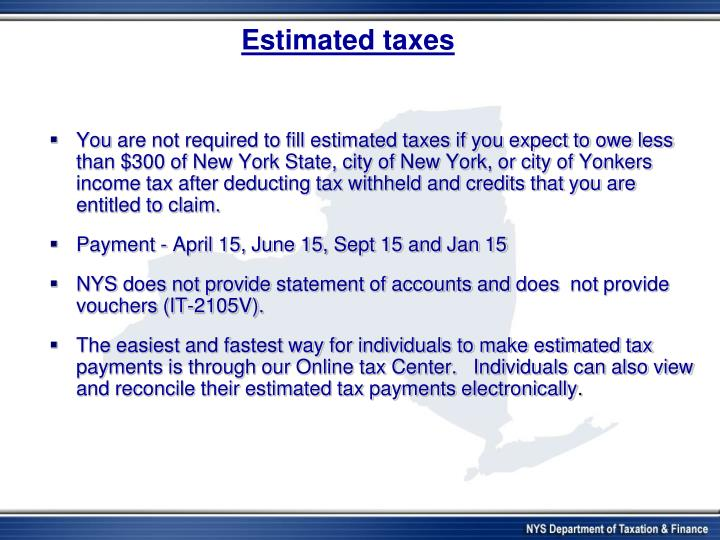Estimated taxes