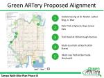 green artery proposed alignment