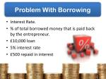 problem with borrowing
