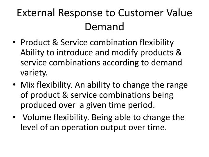 External Response to Customer Value Demand