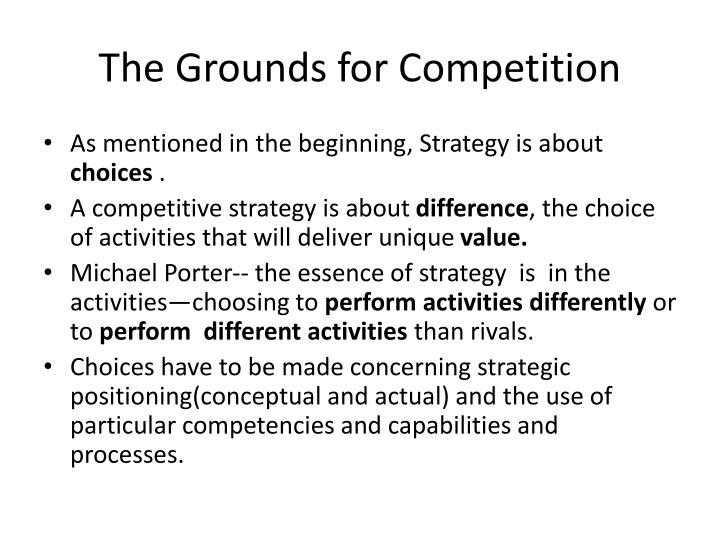 The Grounds for Competition